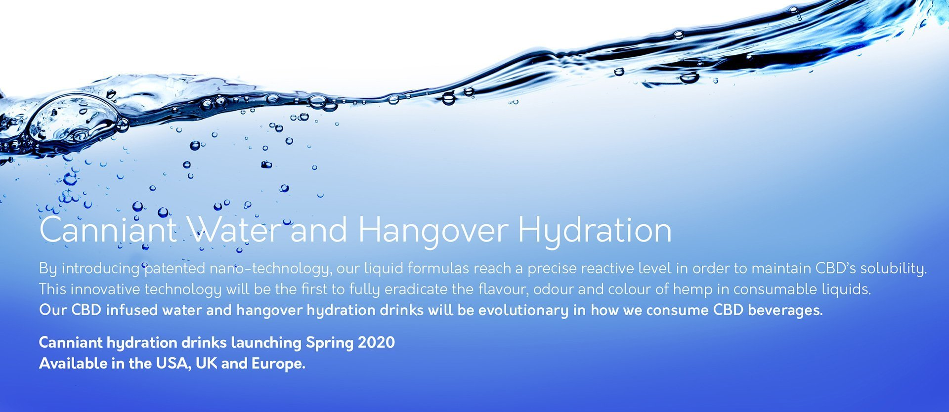 Canniant CBD Water and Hangover Hydration