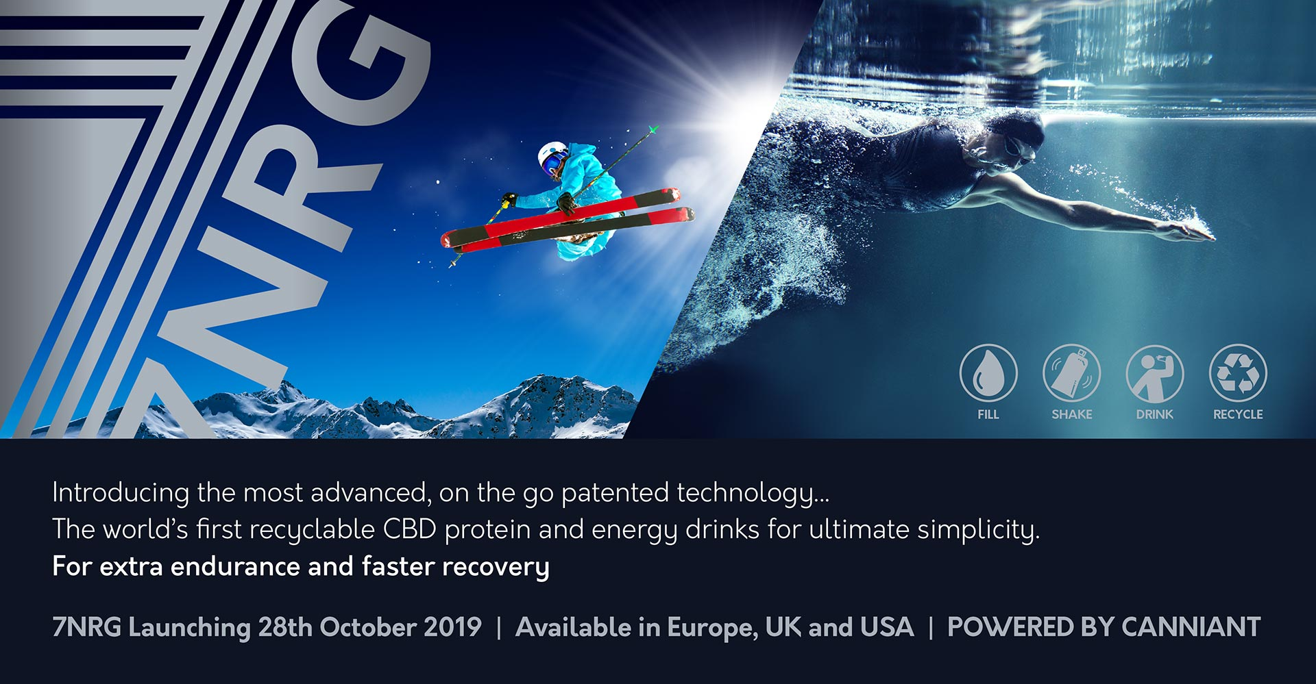 CBD Protein and Energy drinks by 7NRG